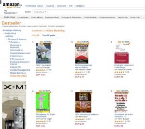 """Das E-Book """"Platz 1 bei amazon"""" als Nr. 1 der Bestsellerliste """"Online Marketing"""""""